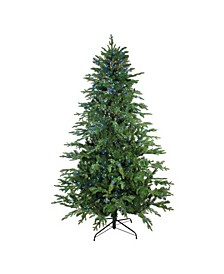 Pre-Lit Medium Ashland Sitka Spruce Artificial Christmas Tree