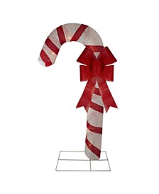 Pre-Lit Glitter Candy Cane Christmas Outdoor Decoration