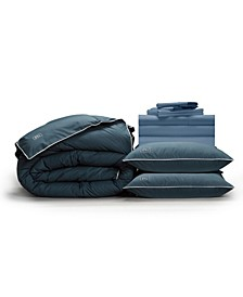 Luxe Soft Smooth Perfect 12-Piece Bedding Bundle with Down-Alt Gel Fiber, Full