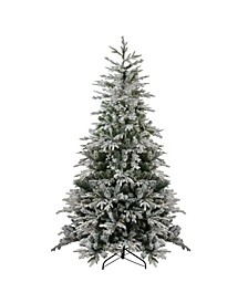 Pre-Lit Medium Flocked Winfield Fir Artificial Christmas Tree