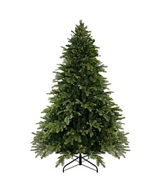 Pre-Lit Full Woodcrest Pine Artificial Christmas Tree