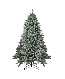Flocked Winter Park Fir Artificial Christmas Tree