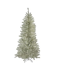 Metallic Sheer Champagne Artificial Tinsel Christmas Tree-Unlit