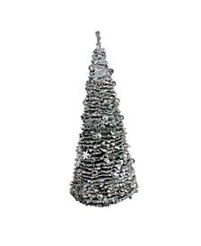 Pre-Lit Pencil Pop-Up Artificial Christmas Tree