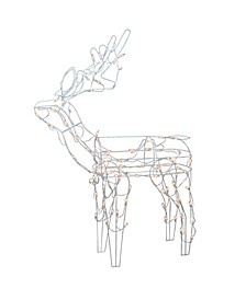 Lighted Standing Reindeer Christmas Outdoor Decoration