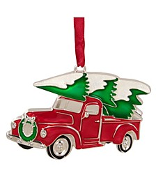 Country Pick Up Truck with European Crystals Christmas Ornament