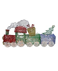 Lighted Christmas Train with Presents Tree Yard Decor