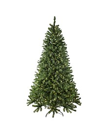 Pre-Lit Full Multi-Function Basset Pine Artificial Christmas Tree