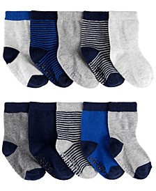 Baby Boy 10-Pack Stripe Socks