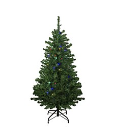 Pre-Lit Mixed Classic Pine Medium Artificial Christmas Tree-Multi LED Lights
