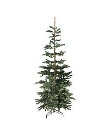 Pre-Lit Slim Layered Noble Fir Artificial Christmas Tree