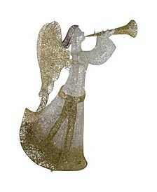 Cotton Thread LED Lighted Glitter Angel Outdoor Christmas Decoration