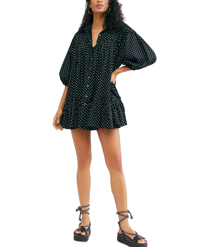 Free People - Printed Babydoll Dress