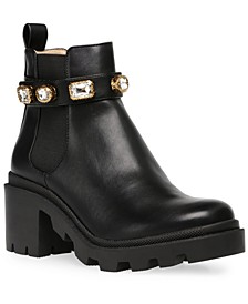 Women's Amulet Embellished Lug-Sole Booties