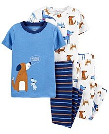 Toddler Boy 4-Piece Dog Snug Fit Cotton PJs