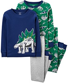 Big Boy4-Piece Dinosaur Snug Fit Cotton PJs