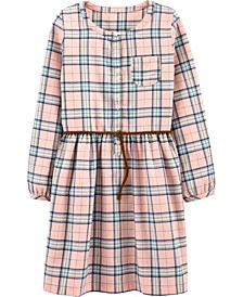 Big Girl  Plaid Shirt Dress