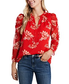 Ruffled Printed Blouse