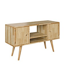 Rhodes Mid Century Modern Wood Entertainment Cabinet with Doors
