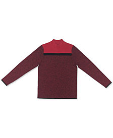 Karen Scott Cotton Colorblocked Mock-Neck Sweater, Created for Macy's