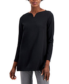 Alfani Boat-Neck V-Notch Top, Created for Macy's