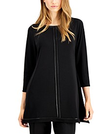 Piped-Detail Tunic Top, Created for Macy's