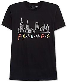 Trendy Plus Size Cotton Friends Skyline Graphic T-Shirt