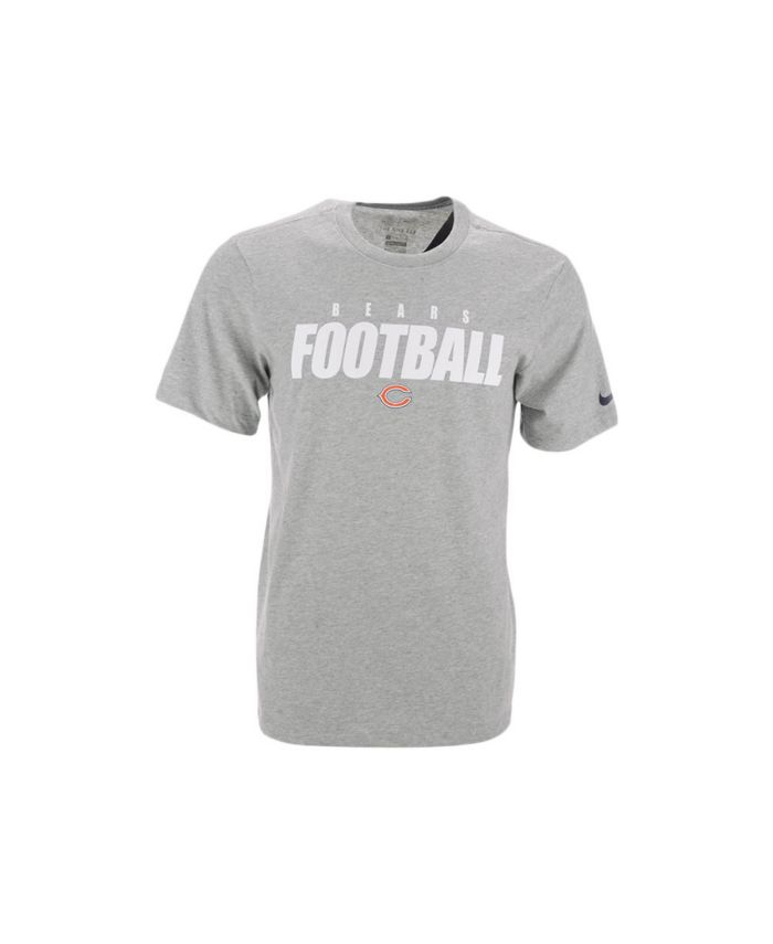 Nike Chicago Bears Men's Dri-Fit Cotton Football All T-Shirt & Reviews - Sports Fan Shop By Lids - Men - Macy's