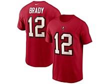 Tampa Bay Buccaneers Men's Pride Name and Number Wordmark 3.0 Player T-shirt Tom Brady