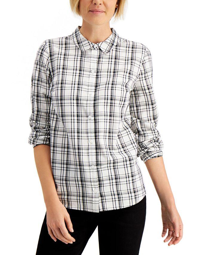 Charter Club - Plaid Button-Down Shirt, Created for Macy's