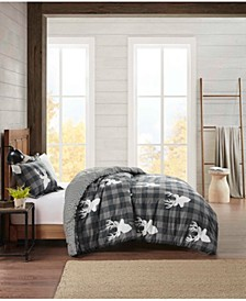 Flannel Twin Comforter Deer Mini Set