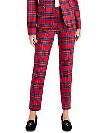Petite Tartan Slim-Leg Pants, Created For Macy's
