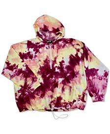Trendy Plus Size Tie-Dyed Hoodie