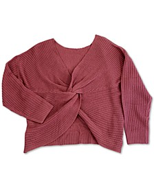 Trendy Plus Size Twist-Front Sweater