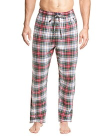 Men's Printed Cotton Flannel Pajama Pants
