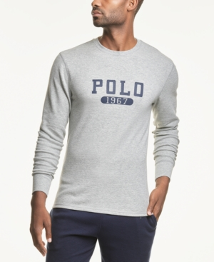 Polo Ralph Lauren Men's Logo Waffle-Knit Sleep Shirt