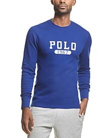 폴로 랄프로렌 파자마 셔츠 Polo Ralph Lauren Mens Logo Waffle-Knit Pajama Shirt