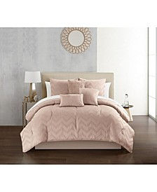 Meredith 6 Piece Queen Comforter Set