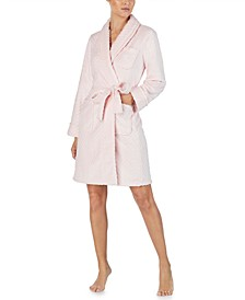 Plush Herringbone Wrap Robe