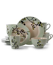 Retro Bloom 16 Piece Luxurious Stoneware Dinnerware Set