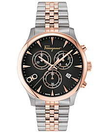 Men's Swiss Chronograph Duo Two-Tone Stainless Steel Bracelet Watch 42mm