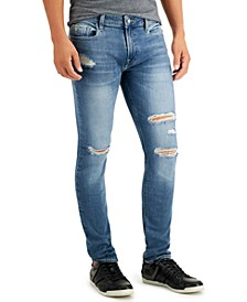 Men's Skinny-Fit Destroyed Jeans