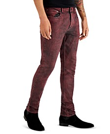 INC Men's Licorice Coated Skinny Jeans, Created for Macy's