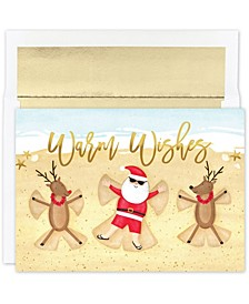 Beach Angels Holiday Boxed Cards, 18 Cards and 18 Foil Lined Envelopes