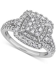 IGI Certified Diamond Cluster Ring (1 ct. t.w.) in 10k White Gold