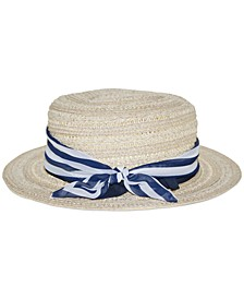 Wheat-Straw Boater Hat