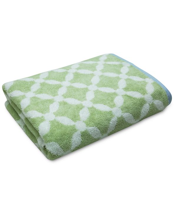 "Martha Stewart Collection Dot Lattice 30"" x 54"" Bath Towel, Created for Macy's"