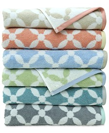 Dot Lattice Bath Towel Collection, Created for Macy's