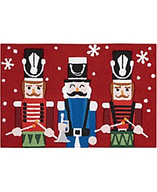 "Nutcracker 20"" x 30"" Hooked Rug, Created for Macy's"