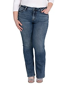 Plus Size Avery Slim Bootcut Jeans